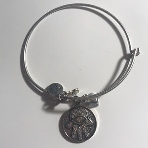 Jewelry - Silver Hamsa adjustable bangle bracelet
